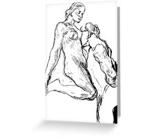 Rodin sketch Greeting Card