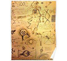 Eyes & tardigrades science inspired drawings Poster