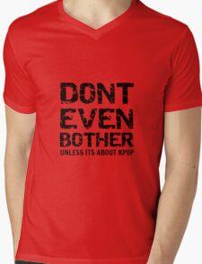 DONT BOTHER TOUGH - red Mens V-Neck T-Shirt