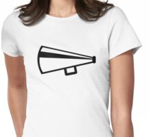 Megaphone Womens Fitted T-Shirt
