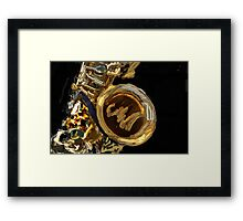 ABSTRACT SAXOPHONE Framed Print