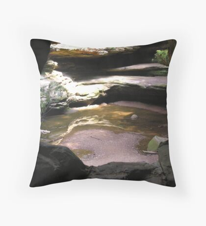 rock window Throw Pillow