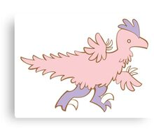 Feathery Dinosaurs - Velociraptor Run Canvas Print
