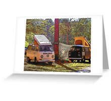 Primitive Camping Greeting Card