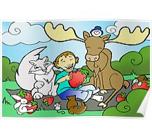 Sirus and friends Strawberry Picnic Poster