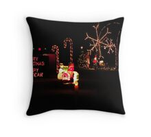 Merry Christmas/Happy New Year Throw Pillow