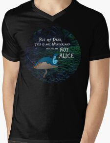 NOT ALICE Mens V-Neck T-Shirt