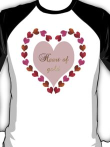 HEART OF GOLD IN METAL AND GLITTER T-Shirt