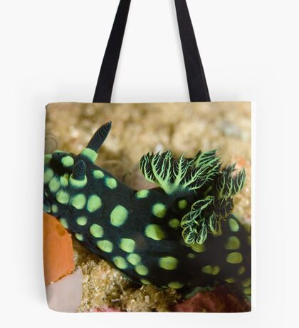 Green-Spotted Nudibranch Tote Bag