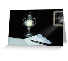 Lonely Letter To Home Greeting Card