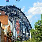 Merry Christmas - The Rocks V Harbour Bridge, Sydney by Bev Woodman