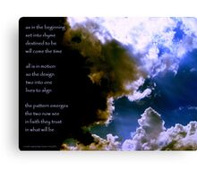 Set Into Rhyme... the image Canvas Print