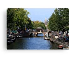 Summer In Amsterdam Canvas Print