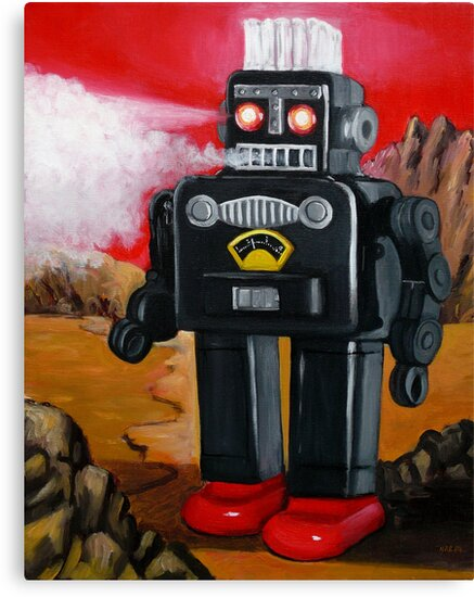 Smoking Robot on Mars by Artberry
