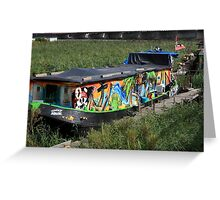 Colorful Houseboat Greeting Card