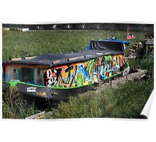 Colorful Houseboat Poster