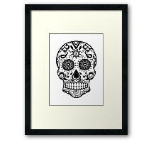 Sugar skull Black Framed Print