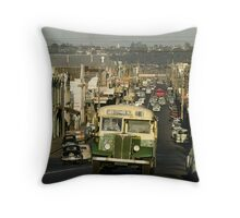 Evening traffic Johnston St Collingwood 19620508 0016 Throw Pillow