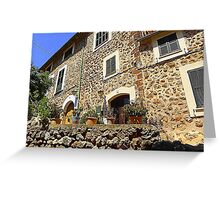 The House With Grey Shutters..........................Majorca Greeting Card