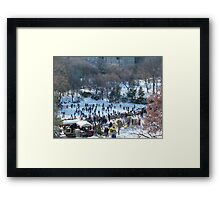 Wollman Rink, Central Park in Snow, New York City Framed Print