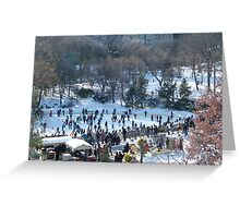 Wollman Rink, Central Park in Snow, New York City Greeting Card