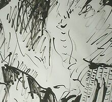 TOMORROW IS ANOTHER DAY (INK DRAWING)(2010) by Paul Romanowski