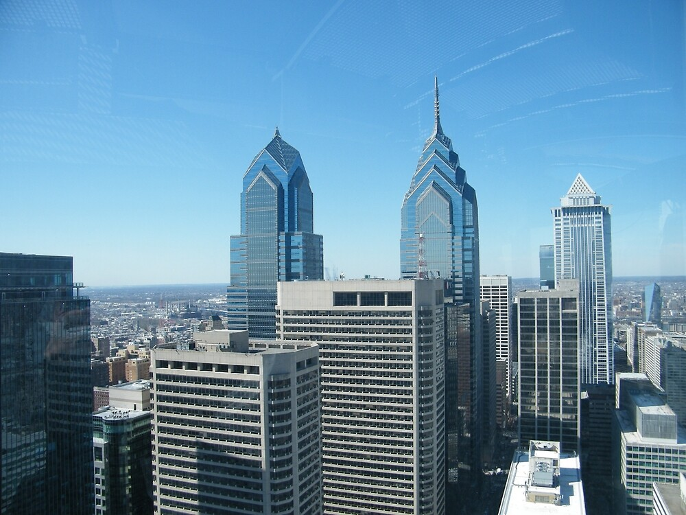Philadelphia, Aerial View from City Hall Tower by lenspiro
