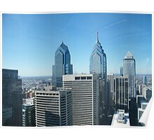 Philadelphia, Aerial View from City Hall Tower Poster