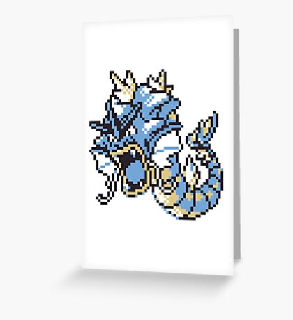 Gyrados GBC Greeting Card