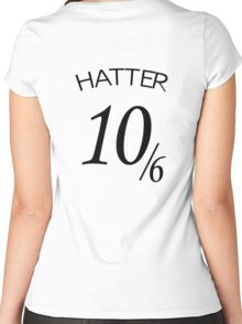 The Hatter (10/6) Women's Fitted Scoop T-Shirt