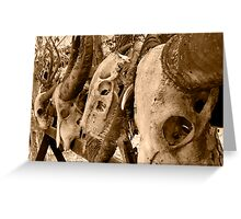 Komodo Dragon Kills Greeting Card