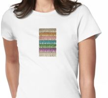 Vintage Bugle Bead Fringe Womens Fitted T-Shirt
