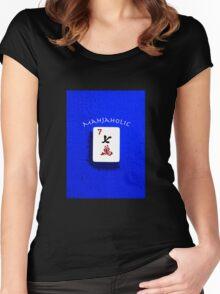 "Lucky Seven ""Mahjaholic"" #6 ~ Mah Jongg Series Women's Fitted Scoop T-Shirt"