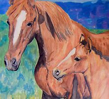 Mother and Foal by Alexandra Felgate