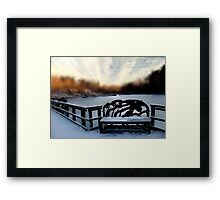sit with me Framed Print