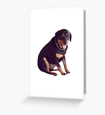 Rottie Greeting Card