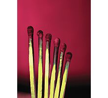 Red matches Photographic Print