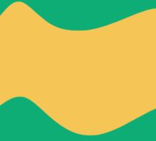 Ribbons: Jade & Yellow Sticker