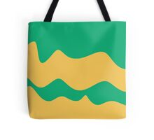 Ribbons: Jade & Yellow Tote Bag