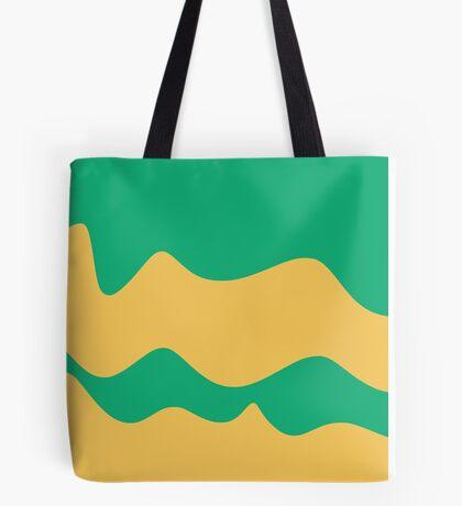 Ribbons: Jade & Yellow Tote Bag