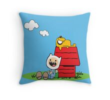 Peanuts time Throw Pillow
