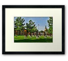 Oklahoma City National Memorial- HDR  Framed Print