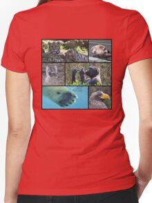 Wildlife Collage 1 Women's Fitted V-Neck T-Shirt