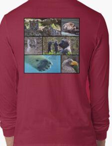 Wildlife Collage 1 Long Sleeve T-Shirt