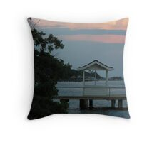 docks at dusk Throw Pillow