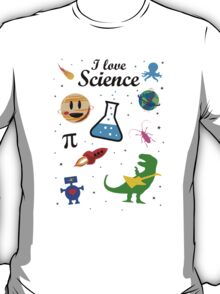 I Love Science (black version) T-Shirt