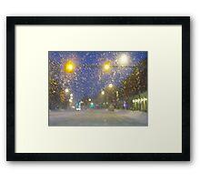 Snowstorm Scene Framed Print