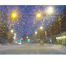 Snowstorm Scene Photographic Print