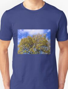 Blue Sky and Autumn Leaves Unisex T-Shirt