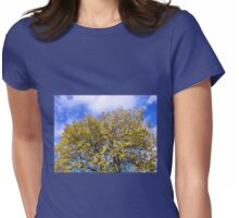 Blue Sky and Autumn Leaves Womens Fitted T-Shirt